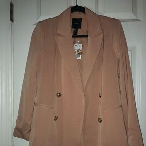 Dainty Pale Pink Jacket with Gold Buttons